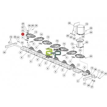 Tera plaat alumine Lely 4-1201-0142-0