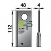 Rootoritera 112x48x4 ¤21 Pöttinger parem