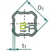Kardaanitoru nelikant S6 46.9x4.5 sise