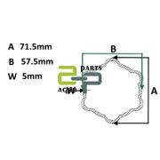 Kardaanitoru AW26 välis 71.0x5.0 tähik