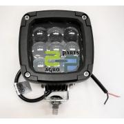 LED töötuli 27W 1750lm 10-30V IP69K sinine valgus spot niiskus ja keemiakaalikindel